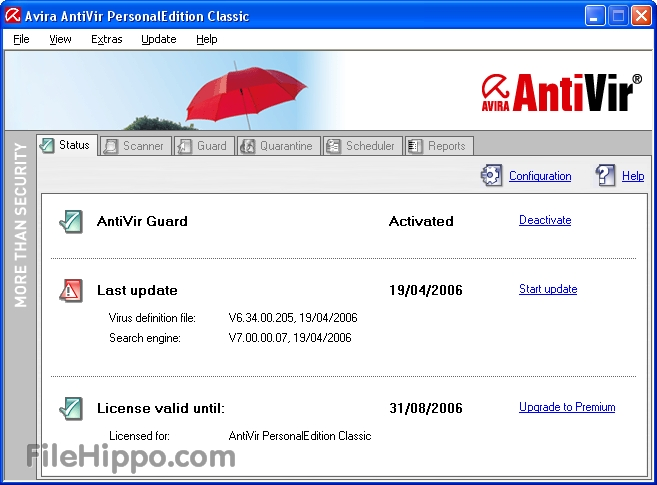 Avira - One of the top antivirus programs